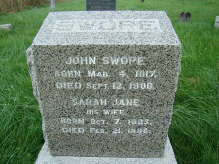 BERRY SWOPE, SARAH JANE - Jefferson County, Iowa   SARAH JANE BERRY SWOPE