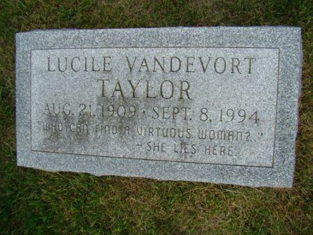 VANDEVORT TAYLOR, LUCILE - Jefferson County, Iowa   LUCILE VANDEVORT TAYLOR