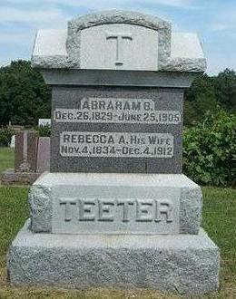 TEETER, ABRAHAM B. - Jefferson County, Iowa | ABRAHAM B. TEETER