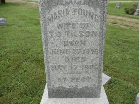 YOUNG TILSON, MARIA - Jefferson County, Iowa | MARIA YOUNG TILSON