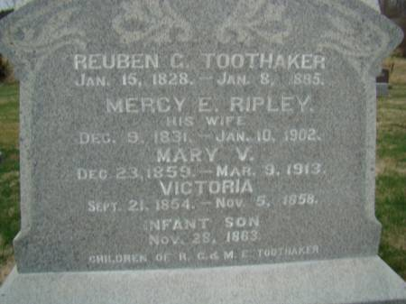 RIPLEY TOOTHAKER, MERCY E. - Jefferson County, Iowa | MERCY E. RIPLEY TOOTHAKER