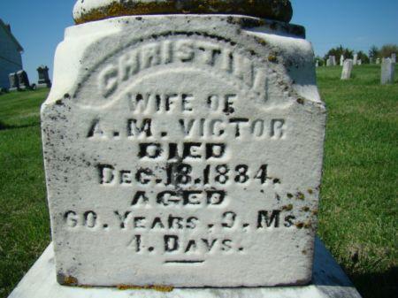 ANDERSDOTTER VICTOR, CHRISTINA - Jefferson County, Iowa | CHRISTINA ANDERSDOTTER VICTOR