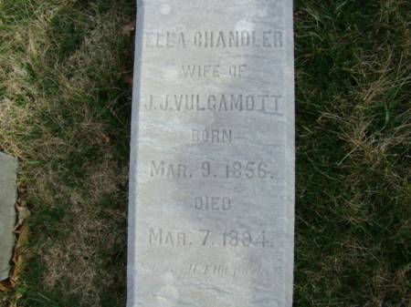 CHANDLER VULGAMOTT, ELLA - Jefferson County, Iowa | ELLA CHANDLER VULGAMOTT