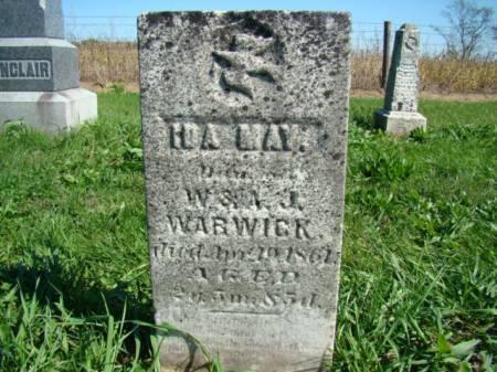 WARWICK, IDA MAY - Jefferson County, Iowa   IDA MAY WARWICK