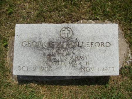 WILLEFORD, GEORGE W - Jefferson County, Iowa | GEORGE W WILLEFORD