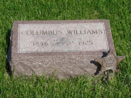 WILLIAMS, COLUMBUS - Jefferson County, Iowa   COLUMBUS WILLIAMS