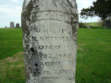 BARGER WORKMAN, EUGENIE M - Jefferson County, Iowa | EUGENIE M BARGER WORKMAN