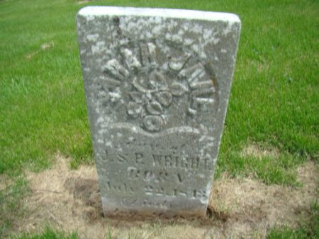 WRIGHT, SARAH JANE - Jefferson County, Iowa | SARAH JANE WRIGHT