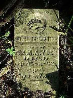 YOST, JOHN GREENUP - Jefferson County, Iowa   JOHN GREENUP YOST