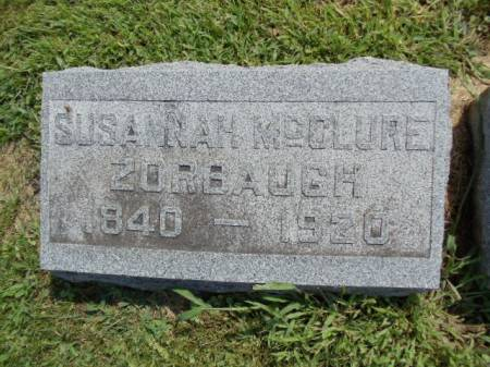 MCCLURE ZORBAUGH, SUSANNAH - Jefferson County, Iowa   SUSANNAH MCCLURE ZORBAUGH