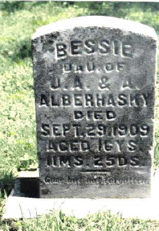 ALBERHASKY, BESSIE - Johnson County, Iowa   BESSIE ALBERHASKY