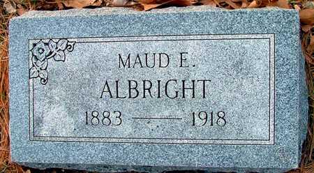 ALBRIGHT, MAUD E - Johnson County, Iowa   MAUD E ALBRIGHT