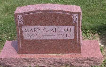 ALLIOT, MARY G - Johnson County, Iowa | MARY G ALLIOT