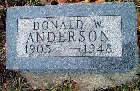 ANDERSON, DONALD W - Johnson County, Iowa   DONALD W ANDERSON