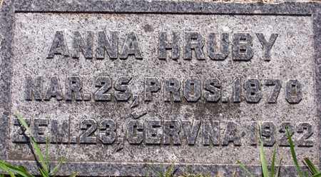 ANNA, HRUBY - Johnson County, Iowa   HRUBY ANNA