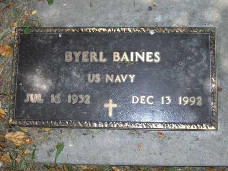 BAINES, BYERL - Johnson County, Iowa   BYERL BAINES