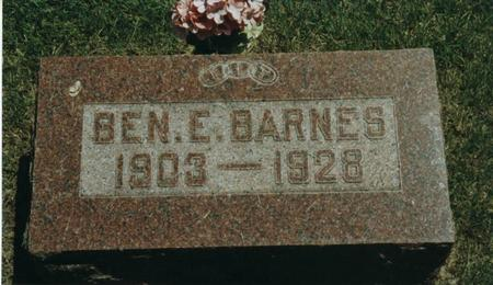 BARNES, BENJAMIN - Johnson County, Iowa | BENJAMIN BARNES