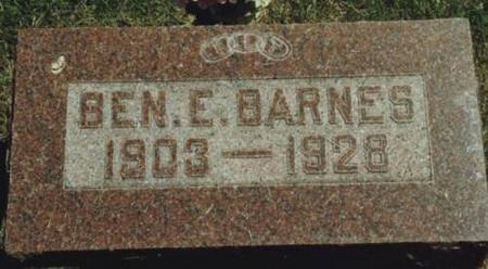BARNES, BENJAMIN E. - Johnson County, Iowa | BENJAMIN E. BARNES