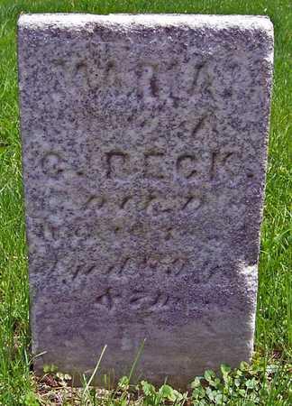 BECK, MARIA C. - Johnson County, Iowa   MARIA C. BECK