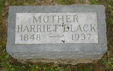 BLACK, HARRIET - Johnson County, Iowa   HARRIET BLACK