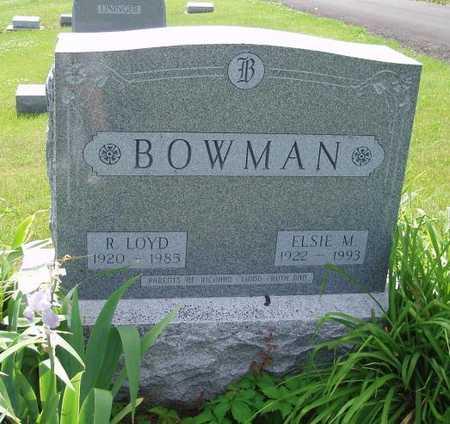 BOWMAN, R. LOYD - Johnson County, Iowa | R. LOYD BOWMAN
