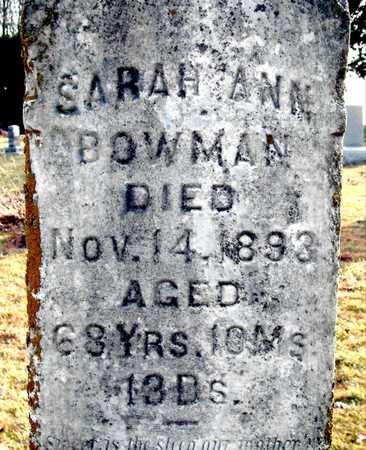 BOWMAN, SARAH ANN - Johnson County, Iowa | SARAH ANN BOWMAN