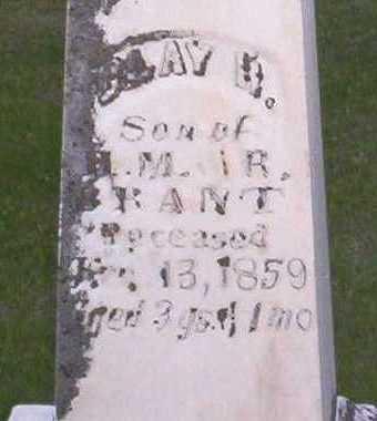 BRANT, CLAY R, - Johnson County, Iowa | CLAY R, BRANT