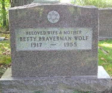 BRAVERMAN WOLF, BETTY - Johnson County, Iowa | BETTY BRAVERMAN WOLF