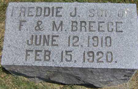 BREECE, FREDDIE J - Johnson County, Iowa   FREDDIE J BREECE