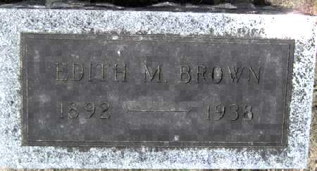 BROWN, EDITH M - Johnson County, Iowa   EDITH M BROWN