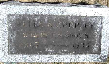 CROPLEY BROWN, HELEN A - Johnson County, Iowa   HELEN A CROPLEY BROWN