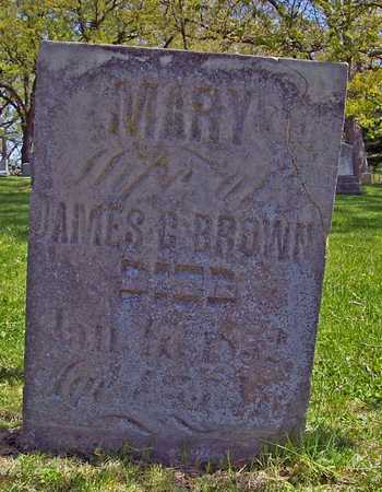 BROWN, MARY - Johnson County, Iowa | MARY BROWN