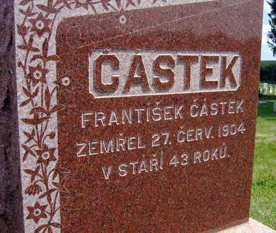 CASTEK, FRANTISEK - Johnson County, Iowa   FRANTISEK CASTEK