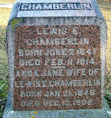 CHAMBERLIN, LEWIS E - Johnson County, Iowa | LEWIS E CHAMBERLIN