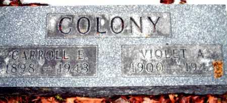 COLONY, VIOLET A. - Johnson County, Iowa   VIOLET A. COLONY