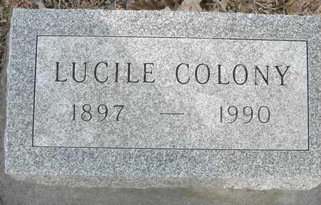 COLONY, LUCILE - Johnson County, Iowa | LUCILE COLONY