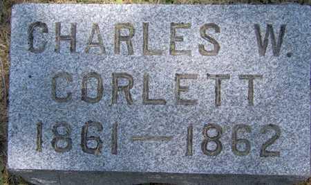 CORLETT, CHARLES W - Johnson County, Iowa   CHARLES W CORLETT