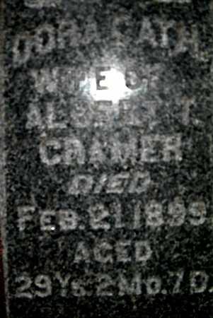 CRAMER, DORA CATH. - Johnson County, Iowa | DORA CATH. CRAMER