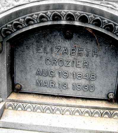 CROZIER, ELIZABETH - Johnson County, Iowa   ELIZABETH CROZIER