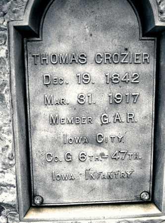 CROZIER, THOMAS - Johnson County, Iowa | THOMAS CROZIER