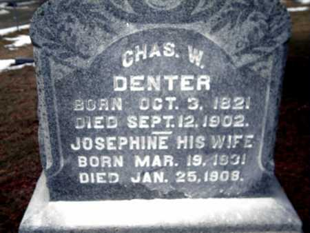 DENTER, CHARLES W. - Johnson County, Iowa | CHARLES W. DENTER