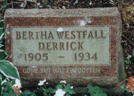 DERRICK, BERTHA - Johnson County, Iowa   BERTHA DERRICK