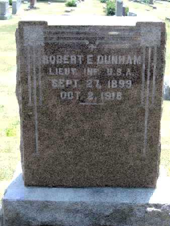 DUNHAM, ROBERT E - Johnson County, Iowa | ROBERT E DUNHAM