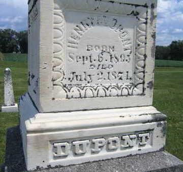 DUPONT, HENRY F. - Johnson County, Iowa | HENRY F. DUPONT