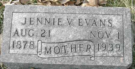 EVANS, JENNIE V - Johnson County, Iowa | JENNIE V EVANS