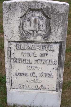 FOWLER, ELIZABETH - Johnson County, Iowa | ELIZABETH FOWLER