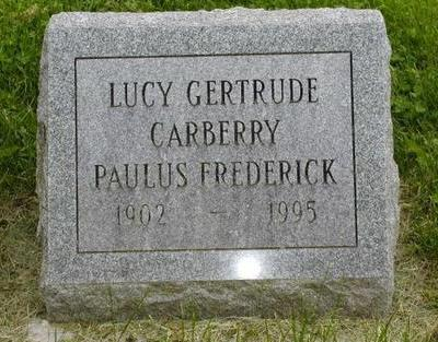 FREDERICK, LUCY GERTRUDE - Johnson County, Iowa | LUCY GERTRUDE FREDERICK