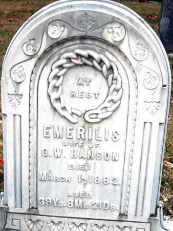 HANSON, EMERILIS - Johnson County, Iowa | EMERILIS HANSON