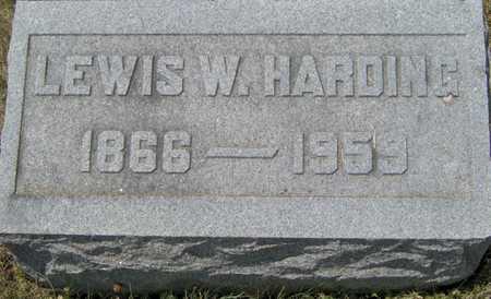HARDING, LEWIS W - Johnson County, Iowa | LEWIS W HARDING