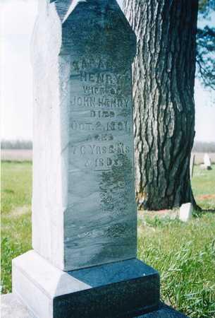 HENRY, SARAH - Johnson County, Iowa | SARAH HENRY